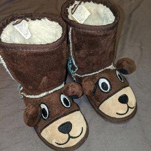 🧸Muk Luks Teddy Bear Boots Zoo Babies